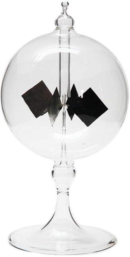 HOMEDAI Solar Crookes Radiometer Light Mill, Sun Light Energy Spinning Vanes Decoration Scientific Gift