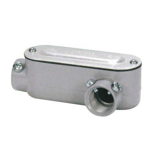 Conduit Set Screw - Morris 14282 Combination Conduit Body, Aluminum, Type LR, Threaded, Set Screw, Cover and Gasket, 1/2