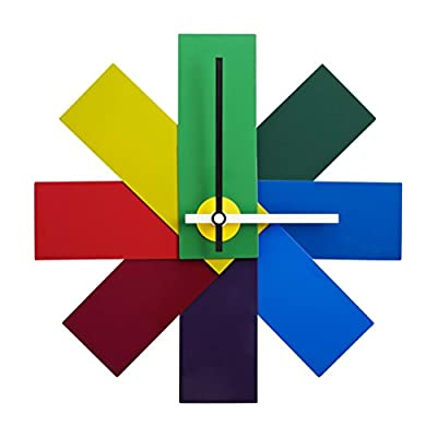 Normann Copenhagen Watch Me Wall Clock - 11 Inches - Eye catching and colorful wall clock Each shade represents a time span Incredible form and craftmanship - wall-clocks, living-room-decor, living-room - 41ikikoG6 L. SS400  -
