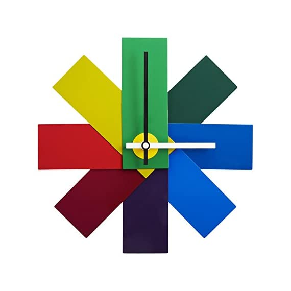 Normann Copenhagen Watch Me Wall Clock - 11 Inches - Eye catching and colorful wall clock Each shade represents a time span Incredible form and craftmanship - wall-clocks, living-room-decor, living-room - 41ikikoG6 L. SS570  -