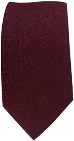 Astute Solid Wool Blend Skinny Tie