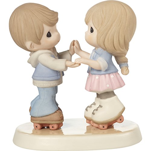 Couple Skating - Precious Moments 179020 So Happy You Rolled Into My Life Roller Skating Couple Bisque Porcelain Figurine