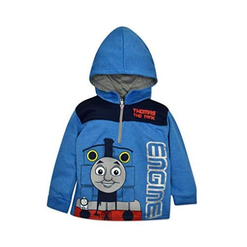 Thomas And Friends Costumes (Thomas & Friends the Tank Toddler Boys' Half Zip Pullover Hoodie Blue)