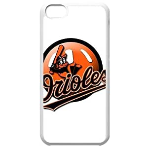 MLB Iphone 5C White Baltimore Orioles cell phone cases&Gift Holiday&Christmas Gifts NBGH6C9126052