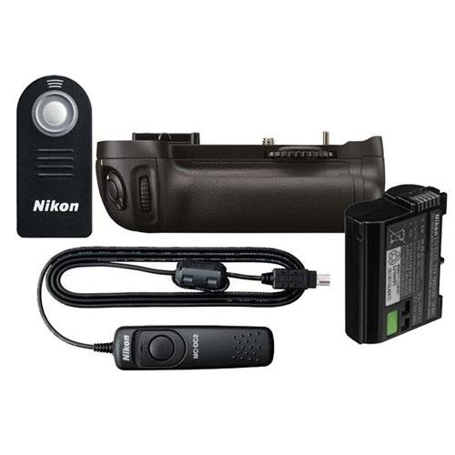 Nikon Accessory Bundle for D610 Digital Camera, IncludesMB-D14 Multi Battery Power Pack, EN-EL15 Lithium-ion Battery Pack, MC-DC2 Remote Release Cord and ML-L3 IR Remote Control by Nikon