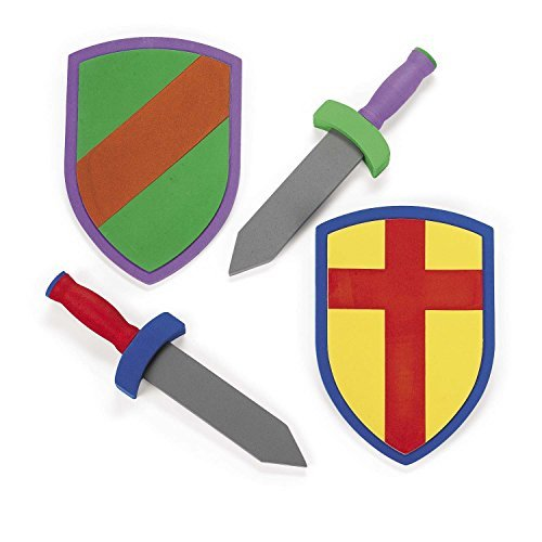 Foam Sword And Armor Set (just 1 set sword + shield) (Colors May -