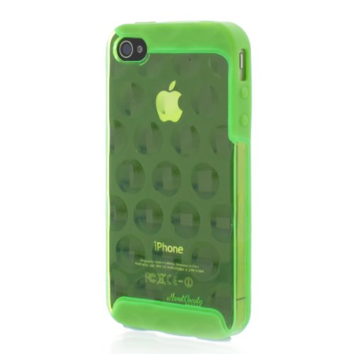 Apple iPhone 4 iPhone 4s Hard Candy Cases Bubble Slider Neon Green Polycarbonate Light Weight Shock Absorbing Protective Cover Case