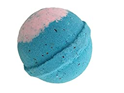 Premium 4.5 oz Lush Bath Bombs by Leona Kay with Organic Shea Butter (4.5 oz, Moonlight & Roses)
