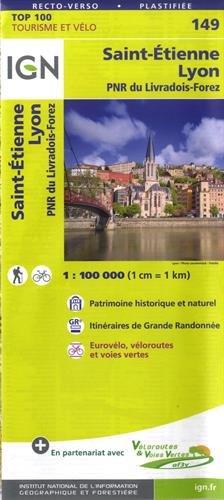 LYON ST ETIENNE (Anglais) Carte – Carte pliée, 18 mai 2018 COLLECTIF IGN 2758543796 Karten / Stadtpläne / Europa