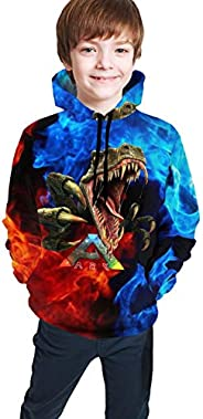 Fafalisa Ark-Survival Evolved Kid's Hooded 3D Print Sweatshirts Youth Hoodies Pullover for Boys and G