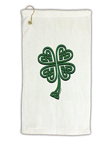 (TooLoud 3D Style Celtic Knot 4 Leaf Clover Micro Terry Gromet Golf Towel 16