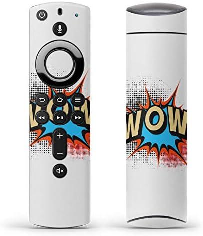 igsticker Fire TV Stick 第2世代 専用 リモコン用 全面 スキンシール フル 背面 側面 正面 ステッカー ケース 保護シール 001583 アニマル 英字 ペイント