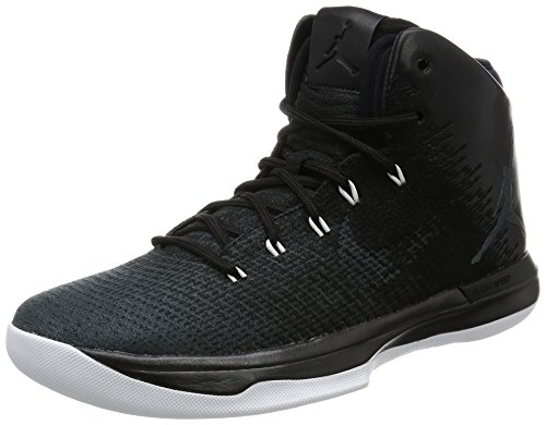 Jordan Mens Air XXXI, Black/Anthracite-White, 9.5 M US by Jordan