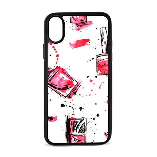 Case for iPhone Nail Polish Color Hand Painted Art Fashion Digital Print TPU Pc Pearl Plate Cover Phone Hard Case Cell Phone Accessories Compatible with Protective Apple Iphonex/xsCase 5.8 ()