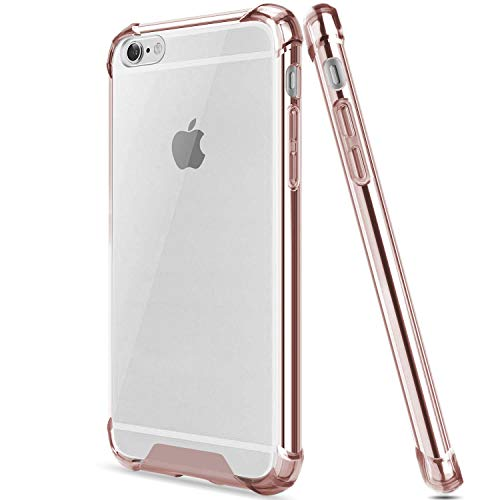 egotude shock proof anti scratch hard back cover case for apple iphone 6   6s  rose
