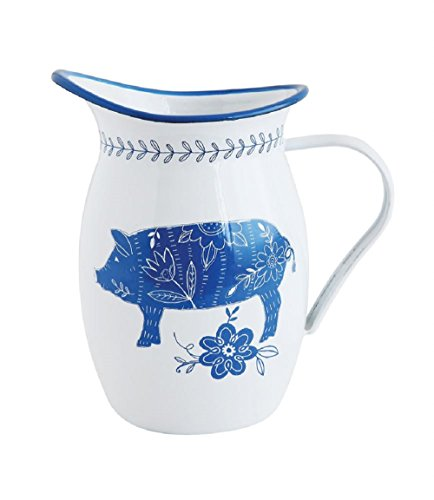 (Creative Co-Op Enameled Pitcher w/ Pig 5