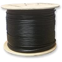 1000 Weatherproof Waterproof UV Rated Direct Burial Gel Filled Network CAT5e Cable W/ Solid Copper Conductors 300 Meter Spool