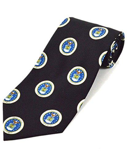 Men's United States Air Force Emblem Black Novelty Tie