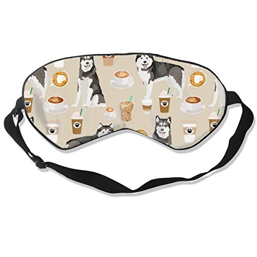 Adjustable Eye Mask,Blindfold,Comfortable & Super Soft Sleep Mask with Adjustable Strap Alaskan Malamute Coffee Sand