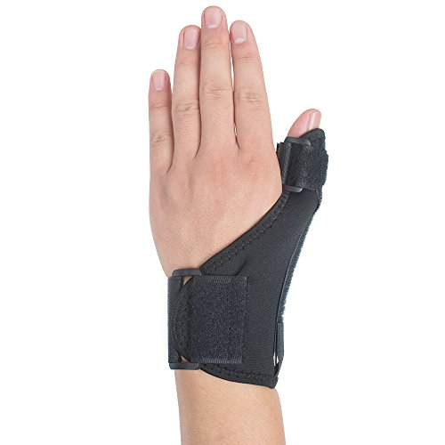 Genmine Arthritis Thumb Splint Wrist Brace with Spica Thumb Support Stabilizer for Pain, Sprains, Strains, Arthritis, Carpal Tunnel & Trigger Thumb Immobilizer Universal Size ( Left or Right) (Thumb Immobilizer)