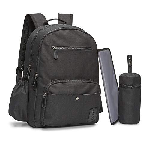 Bambalino Elemento Luxury Diaper Backpack | Family Travel Bag (Black) (Best Luxury Diaper Bag)