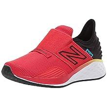 New Balance Kid's PDROVV1 Alternative Closure Running Shoe, Velocity Red/Black, 11 M US Little Kid