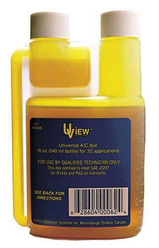 UView 499008 Universal A/C Leak Dye- 8 oz. Bottle