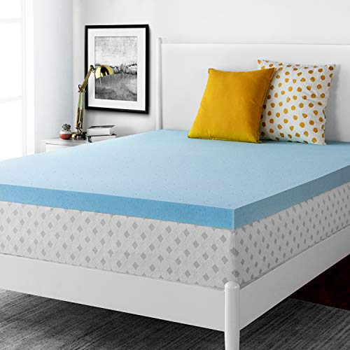 RUUF Mattress Topper Queen, 3 Inch Gel-Infused Memory Foam Mattress Topper, Cloud-Like Soft for Double Bed (Best Cooling Memory Foam Mattress Topper)