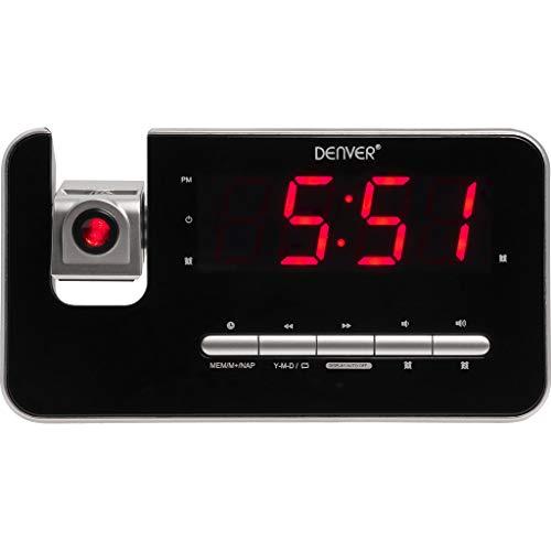 Denver CRP-618 Klokradio (wekker, PLL FM-radio, display 3,0 cm (1,2 inch), projectie)