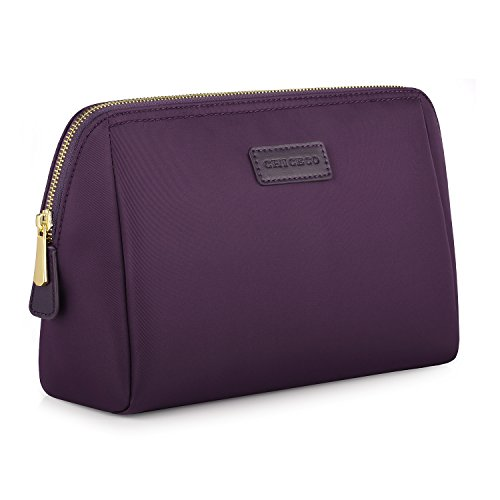 CHICECO Cosmetic Pouch/Toiletry Bag for Women, Dark Purple, Large