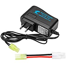 Ocean Loong Smart Charger for 6.0V-9.6V NiMH/NiCd Batteries with 1.0A Output and Tamiya Connector Adapater for RC NiMH Battery Pack