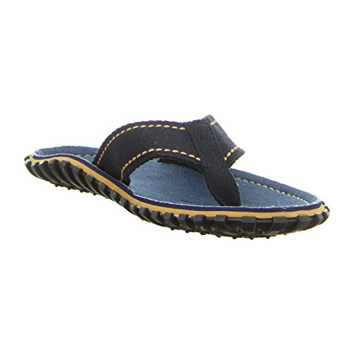 Gumbies ISLANDER Unisex Canvas Flip Flops Manly Red azul vaquero