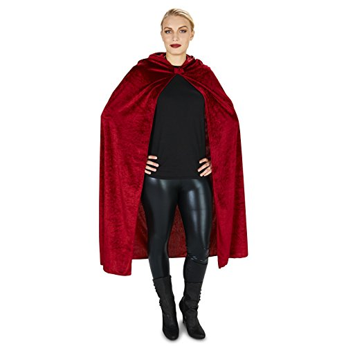 [Wine Velvet Adult Cape One Size] (Red Vampiress Adult Costumes)