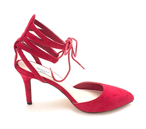 Kyle Pumps Womens Microfiber Orsay Ankle Pointed Red D Chelsea amp; Zoe Toe Wrap tqxwna6v