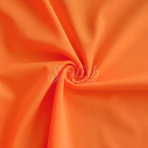 Orange Matte Tricot Knit Fabric for Swimwear Activewear Sportswear -1 Yard
