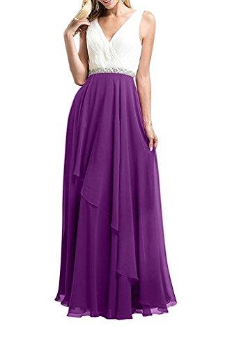Abendkleider Linie Pailletten mit La Elegant Braut A Ballkleider Abschlussballkleider mia Lang Partykleider Violett Rock qwwFPInz8