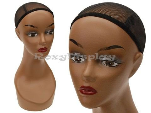 (MZ-SLTT1) ROXY DISPLAY Beautiful Black female mannequin head, African features