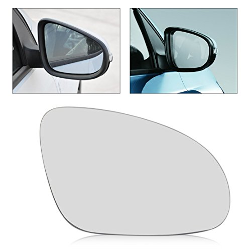 - beler Car Right Side Heated Door Wing Mirror Glass Fit for VW Golf GTI Jetta MK5 EOS Rabbit Passat