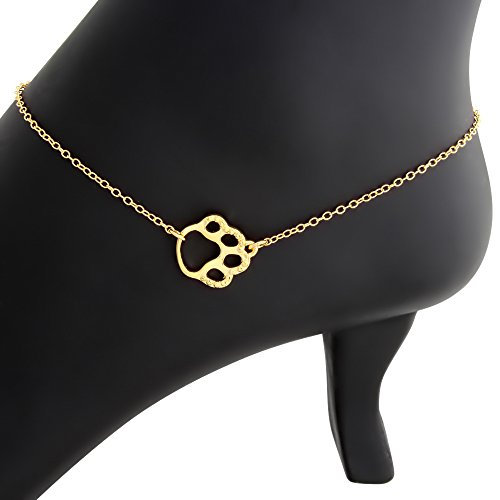 cute-textured-dog-pet-paw-charm-pendant-anklet-gold-plated-silver