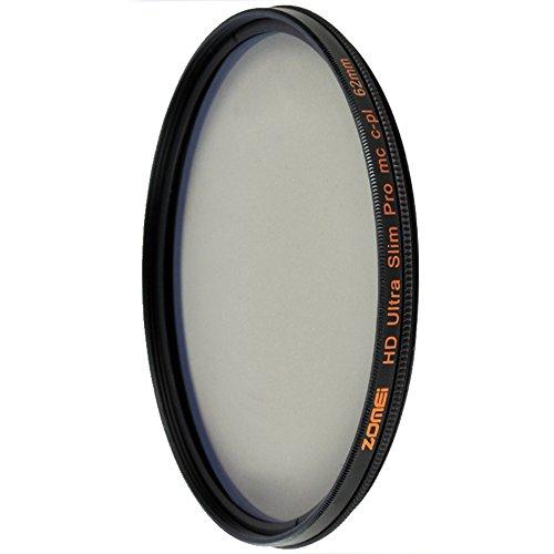 ZOMEI HD 18 Layer Ultra Slim Pro MC CPL Polarizer Filter Shott Circular Polarizing Filter (62 mm) by ZoMei