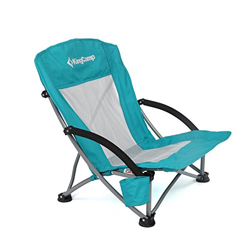 Price comparison product image KingCamp Low Sling Beach Camping Folding Chair with Mesh Back