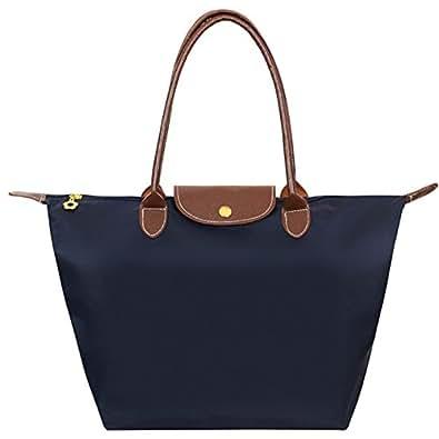 fanhappygo - Bolso al hombro de Lona para mujer Multicolor azul