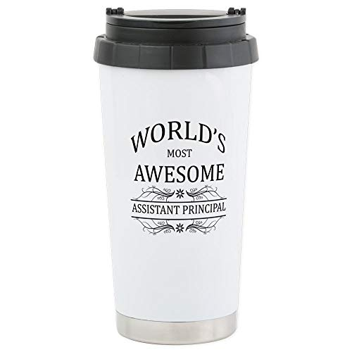 CafePress World's Most Awesome Assistant Principal Stainless Stainless Steel Travel Mug, Insulated 16 oz. Coffee Tumbler