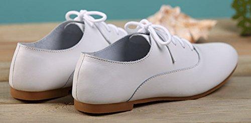 Basse Blanches Blanc Derbies Oxfords Aisun Femme Mode tqwICFS
