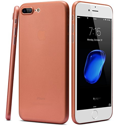 TOZO for iPhone 7 Plus Case iPhone 8 Plus Case, PP Ultra Thin [0.35mm] Worlds Thinest Protect Hard Case [ Semi-Transparent ] Lightweight 5.5 inch. [Matte Rose Gold]