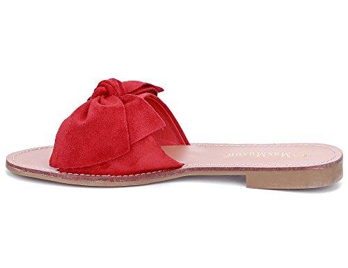 Chancleta para de Mujer Rojo MaxMuxun Lazo vF6Axp