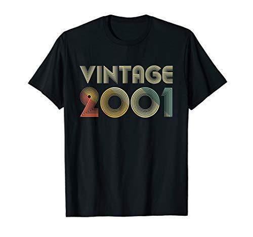 2001 19th Bday Gift Vintage 19 Years Old Men Women Retro T-Shirt