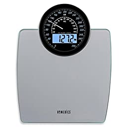 Homedics® 900 Dual Display Digital Bath Scale, Large, Traditional Speedometer Dial, 1.2\