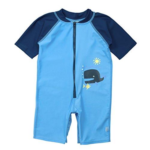 i play. Baby One-Piece Swim Sunsuit, Blue, 24mo