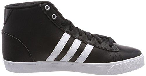 Des noyau Chaussures Quotidienne Cloudfoam Baskets Salut Mi Adidas Qt Mat Femmes Argent Blanc Noir Noir HwFEzEq